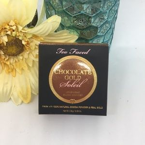NWOT Too Faced Chocolate Gold Soleil Bronzer